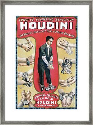 Houdini Advertising Poster 1906 Framed Print by Jon Neidert