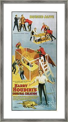 Houdini Buried Alive Framed Print