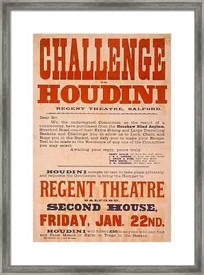 Houdini Challenge Framed Print