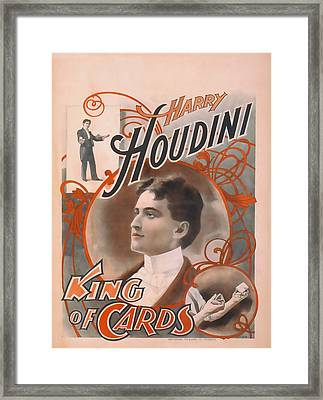 Houdini King Of Cards Framed Print by David Wagner