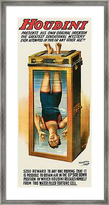 Houdini Water Filled Torture Cell Framed Print by Unknown