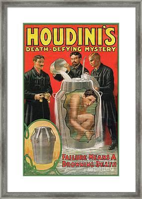 Houdini's Milk Can Death Defying Mystery Framed Print