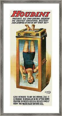 Houdini's Upsidedown Escape Framed Print