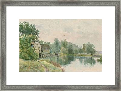 Houghton Mill On The River Ouse Framed Print