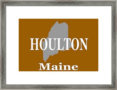 Framed Print featuring the photograph Houlton Maine State City And Town Pride  by Keith Webber Jr