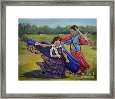 Houma Indian Dance Framed Print