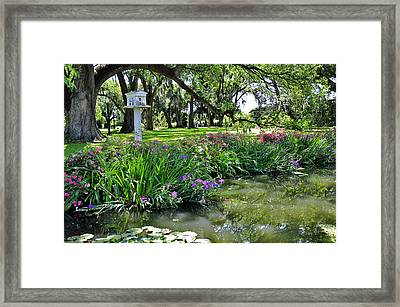 Houmas House Pond Framed Print