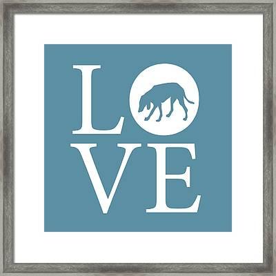 Hound Dog Love Framed Print by Nancy Ingersoll