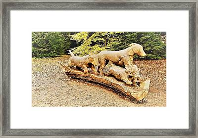 Hounds On The Run Framed Print