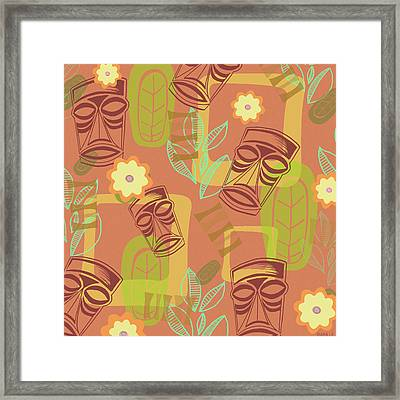 Hour At The Tiki Room Framed Print