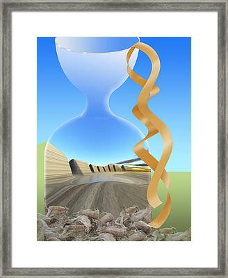 Hour Glass View We Party On Without Much Forethought Framed Print