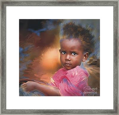 Hour Of Need Framed Print