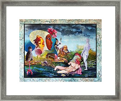 Hour Of The Cock Framed Print by Otto Rapp