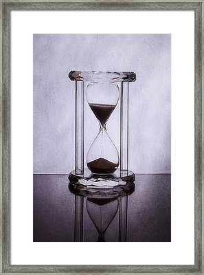 Hourglass - Time Slips Away Framed Print
