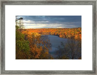 Framed Print featuring the photograph Housatonic In Autumn by Karol Livote