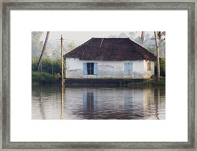 House Along The Kerala Backwaters Framed Print by Andrew Soundarajan