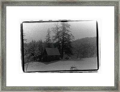 House And Horse Framed Print