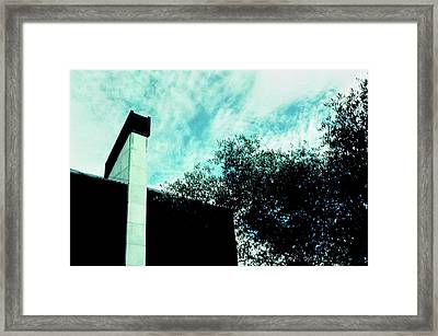 House And Sky Framed Print