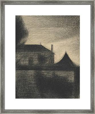 House At Dusk Framed Print by Georges-Pierre Seurat