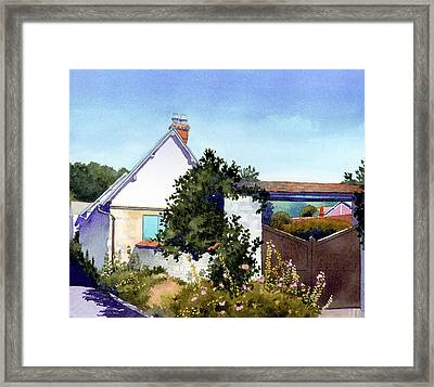 House At Giverny Framed Print