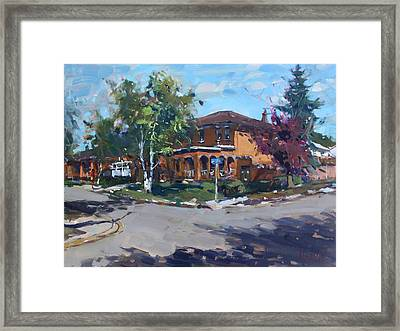 House At Goldmar Dr Mississauga On Framed Print by Ylli Haruni