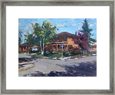 House At Goldmar Dr Mississauga On Framed Print