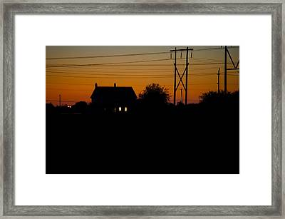 House At Sunset Framed Print by Paul Kloschinsky