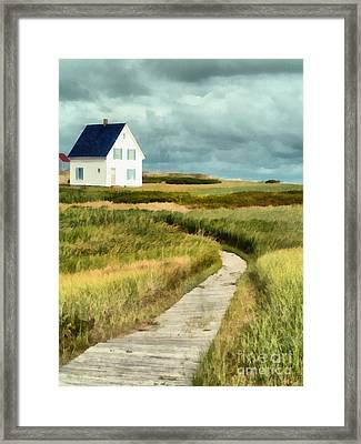 House At The End Of The Boardwalk Framed Print