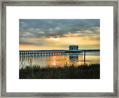 House At The End Of The Pier Framed Print by Steven Ainsworth