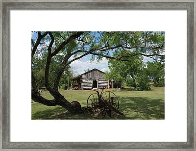 House At The Gonzales Pioneer Village Living History Center In Gonzales Framed Print by Carol M Highsmith