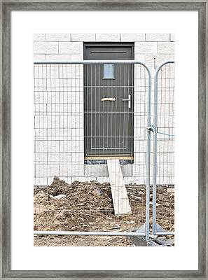 House Building Framed Print by Tom Gowanlock