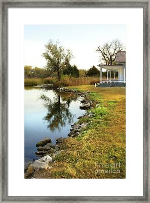 Framed Print featuring the photograph House By The Edge Of The Lake by Jill Battaglia
