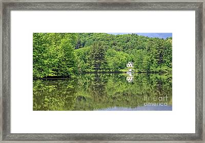 House By The River Vermont Framed Print