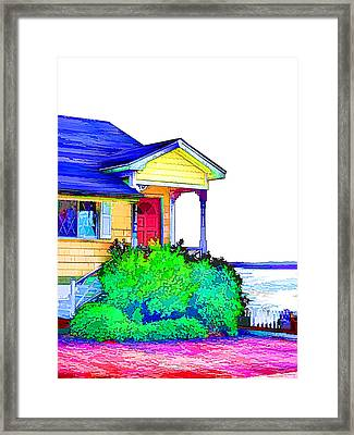 House By The Sea Framed Print