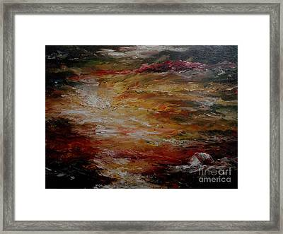 Framed Print featuring the painting House By The Sea by Rushan Ruzaick