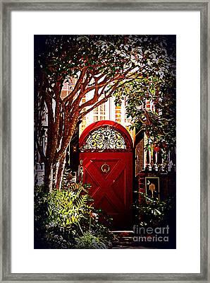 House Door 5 In Charleston Sc  Framed Print