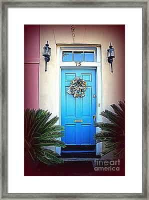 House Door 6 In Charleston Sc  Framed Print by Susanne Van Hulst