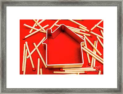 House Fire Warning Framed Print by Jorgo Photography - Wall Art Gallery