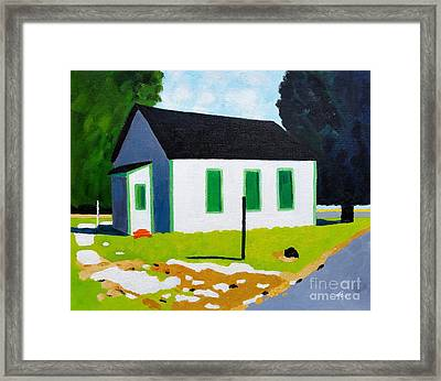 House, Greenbriar Rd,cambridge Framed Print by Lesley Giles