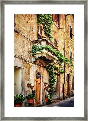 Framed Print featuring the photograph House In Arezzoo, Italy by Marion McCristall