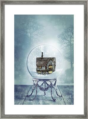 House In Glass Crystal Ball Framed Print