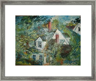 House In Gorham Framed Print by Joseph Sandora Jr