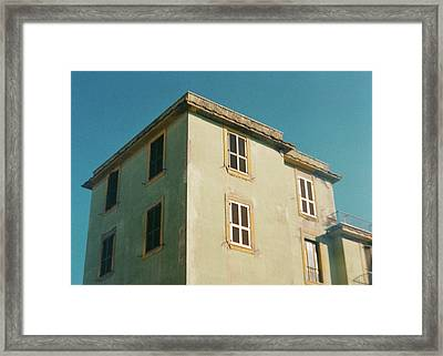 House In Ostia Beach, Rome Framed Print