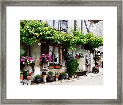 House In Pujols France Framed Print