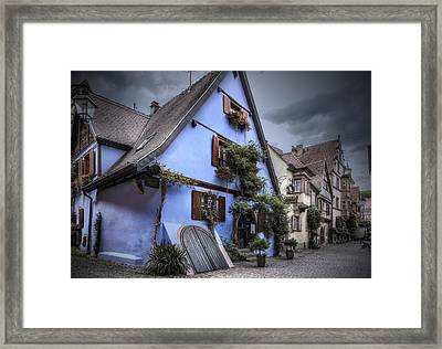 House In Riquewihr, Alsace Framed Print by Sandra Rugina