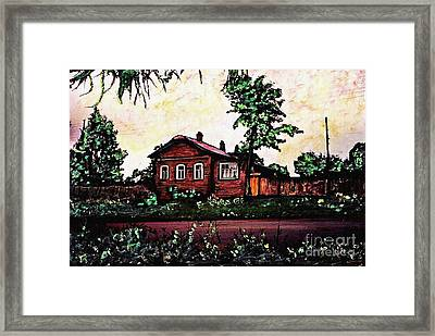 House In Sergiyev Posad   Framed Print