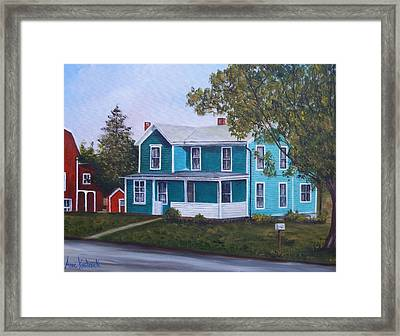 House In Seward Framed Print