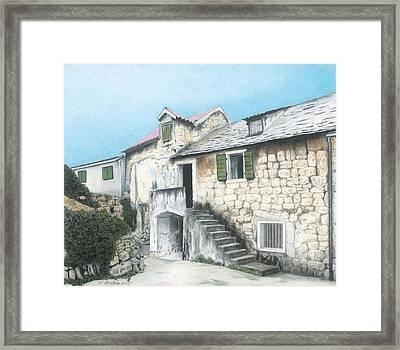 House In Split Croatia Framed Print by Wilfrid Barbier