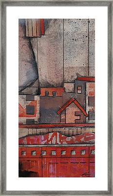 House In The City  Framed Print