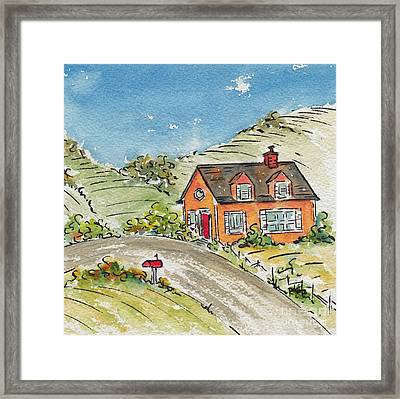House In The Country Framed Print by Pat Katz